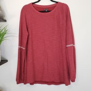 New Directions Puffy Sleeve Pearl Tunic - Size XL